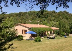 Ferienhaus an der Ardèche in Südfrankreich, Ansicht von Süd-West