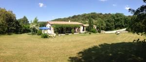 Das Ferienhaus - Panorama-Aufnahme von Süden