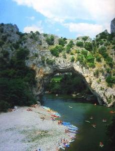 Die Ardèche, Pont d'Arc